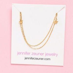 NEW!! Jennifer Zeuner Star Double Necklace